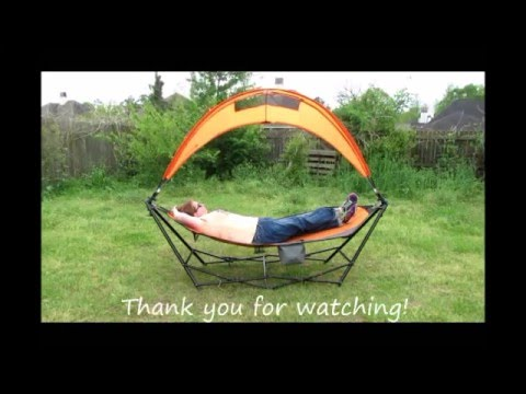 Driftsun Portable Lawn Patio And Camping Hammock With Canopy Youtube