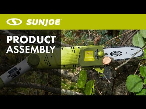 Swj800e how to replace install chain saw chain sun joe pole swj800e how to replace install chain saw chain sun joe pole saw greentooth