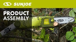 SWJ800E - How To Replace + Install Chain Saw Chain | Sun Joe Pole Saw