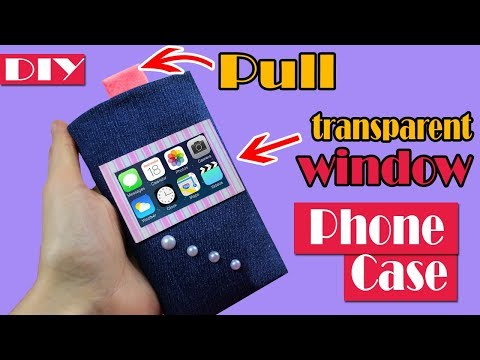 FAST DIY PHONE CASE PULL OUT SLIDE PHONE CASE TUTORIAL FROM JEANS NO SEW