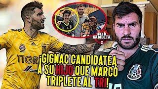El hijo de Gignac marca un triplete y su papá lo candidatea al TRI