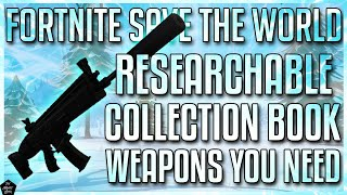 FORTNITE STW: BEST BASE GAME WEAPONS FOR ALL LEVELS OF PLAY | RE-SEARCHABLE IN THE COLLECTION BOOK!