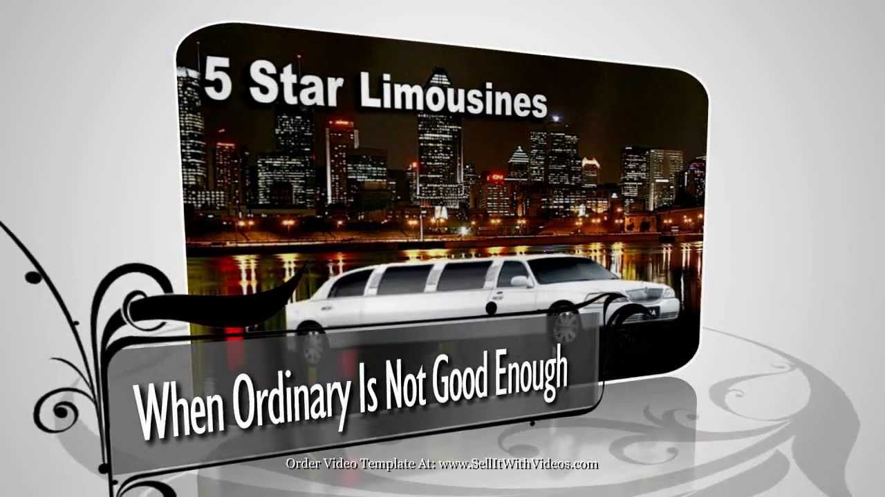 Video Templates For Limousine Companies Video Marketing For Websites ...