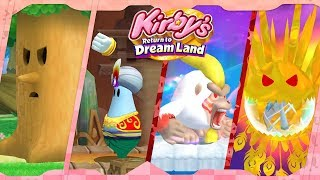 All Story Bosses (4-Player) | Kirby\'s Return to Dream Land ᴴᴰ (2011)