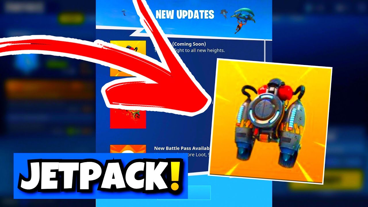 how to get jet packs on fortnite