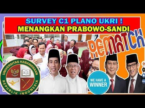 K3K1NI4N ! SURVEY C1 UKRI PRABOWO UNGGUL T3L4K 62,2 % & JKW 39,9 % ! #INDONESIAMENANG !
