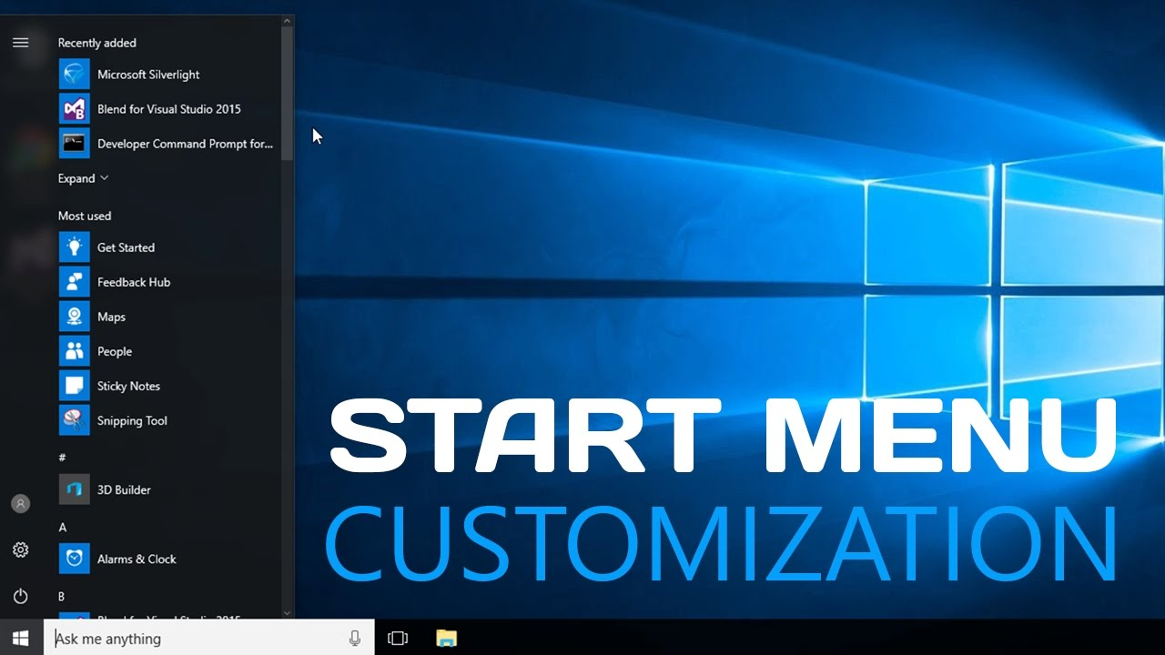 Windows 10 - How to Customize Start Menu - Easy Tutorial Review
