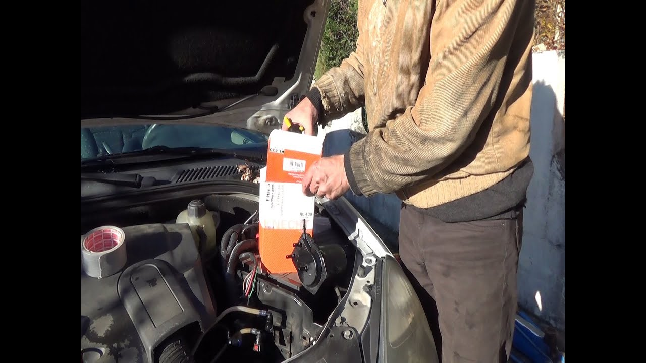 fuel filter change step by step