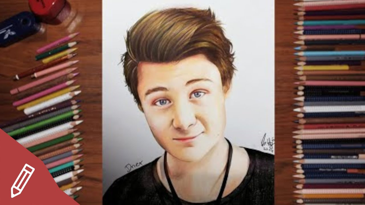 Dner frisur  Drawing Dner / Felix Von Der Laden - REALISTIC PENCIL PORTRAIT ...
