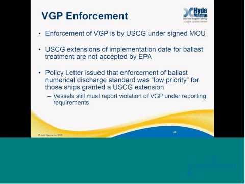 Hyde Marine webinar: Understanding Misconceptions of IMO & USCG Ballast Water Regulations April 2014