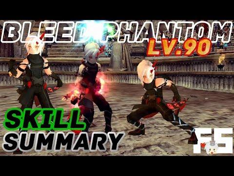 Dragon Nest Korea : Bleed Phantom Skill Summary [PvP]