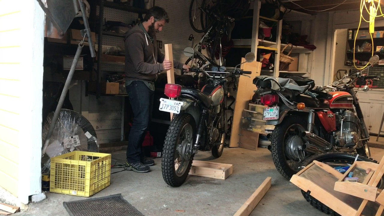 Diy Motorcycle Center Stand To Get Both Wheels Off The