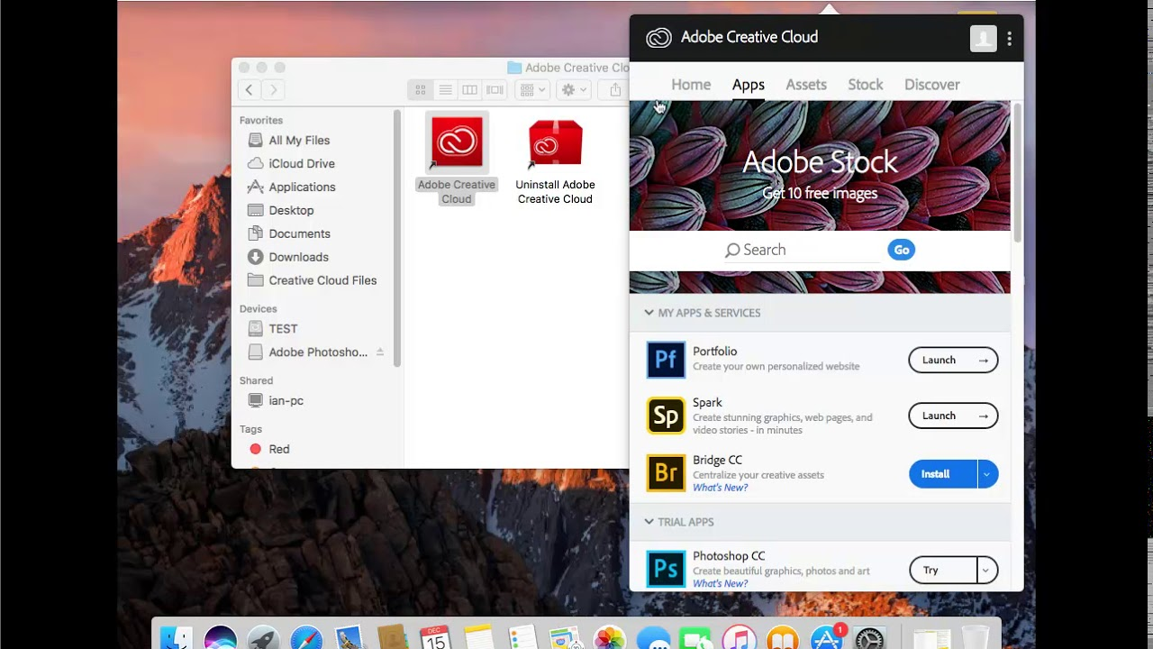 cant uninstall creative cloud mac
