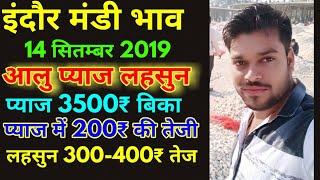 इंदौर मंडी आलु प्याज लहसुन भाव 14 सितम्बर 2019    Garlic Price Today    Pyaj Rate Today    Pyaj Bhav