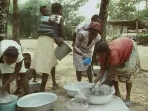Tribes Ghana Africa supplement diet wiith eating clay?