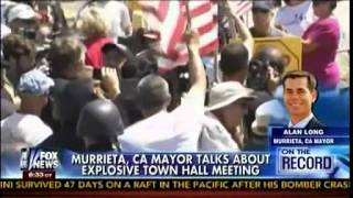 """Send The Back!"" - Crowds Swarm Town Hall To Protest Illegal Aliens - Allen West - On The Record"
