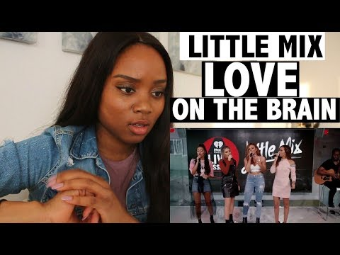 LITTLE MIX - LOVE ON THE BRAIN (iHeartRadio COVER) - REACTION!