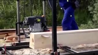 Бензинова пилорама шинна (БПШ) 13 л. с. 350 см3 з електростартером двигун Champion Псков