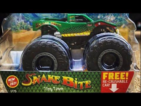 Hot Wheels Monster Trucks Snake Bite New For 2021 Youtube