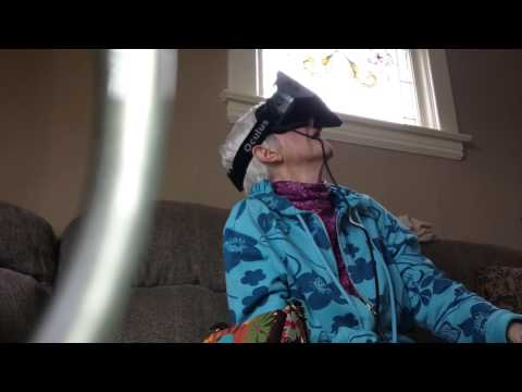 My 84 year old grandma Lenore tries the Oculus Rift