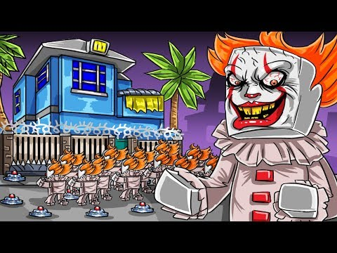 Minecraft | DEFEND YOUR HOUSE FROM PENNYWISE - It the Clown! (Secure Base Challenge)