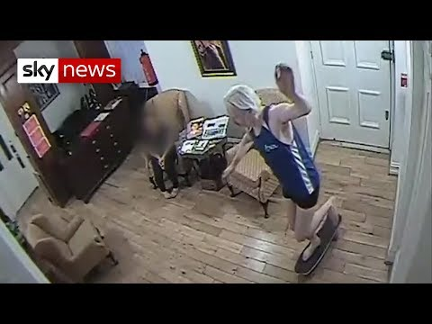 Security footage shows Julian Assange in his living quarters