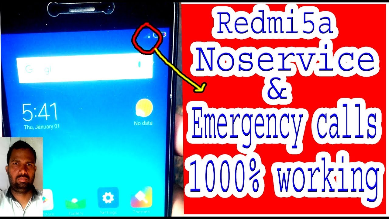Redmi 5a Noservice & Emergency calls problem solution 1000% working