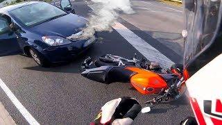 CRAZY Driver Vs Biker \ ROAD RAGE & Motorcycle Mishaps \ MOTO Fails 2018 [Ep#78]