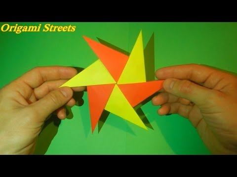 How to make ninja star out of paper. Origami shuriken