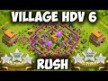 Clash Of Clans Village HDV 6 Défensif Best Hybride Base TH6 Layout Defense Strategy