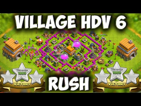 Clash of Clans ~ Village HDV 6 Défensif / Best Hybride Base TH6 Layout Defense Strategy