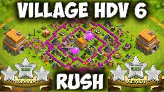 Clash of Clans ~ Village HDV 6 Défensif / Best Hybride Base TH6 Layout Defense Strategy