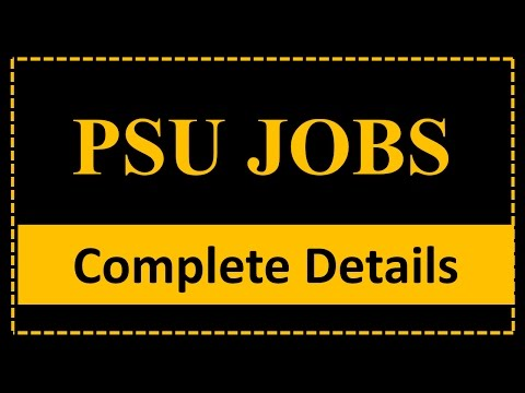 PSU Government Jobs - A Complete Information Guide (GATE/NET Exam)