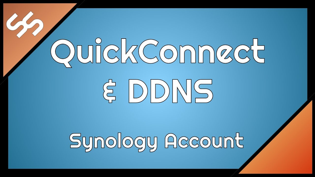 Einrichten Quickconnect Quickconnect Ddns Synology Account