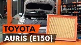 Manutenção Toyota Auris e15 - guia vídeo