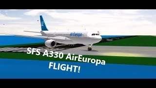 ROBLOX SFS A330 FLY EUROPA FLIGHT!