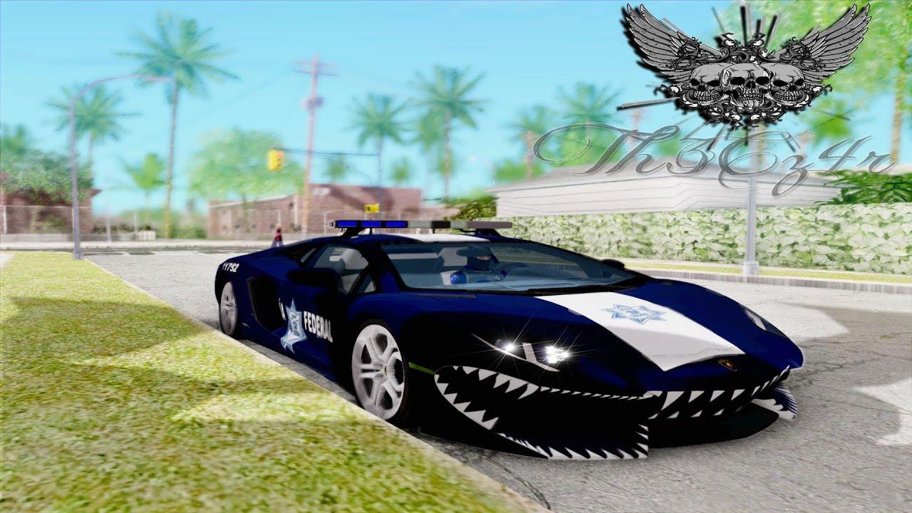 Gta Sa Lamborghini Aventador Lp700 De La Policia Federal