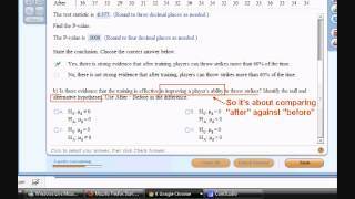 Chapter 25 Q 15: One-Sample t-test and Paired-t test