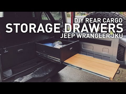 diy drawer system for jeep wrangler, camping, overlanding youtube Jeep Storage Box Plans