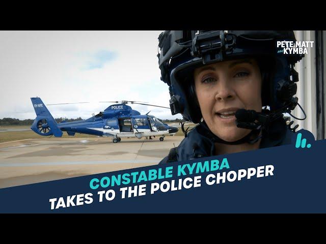 "Constable Kymba: Kymba Nabs Notorious ""Crooks"" From Police Chopper | Pete, Matt and Kymba | Mix94.5"