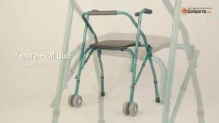 Видео-обзор ходунков для взрослых на колесах Доброта Roll Duo