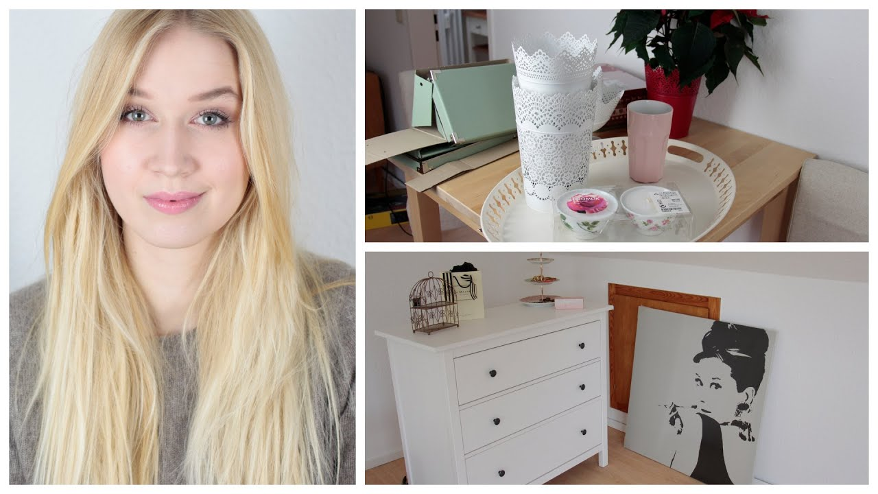 Ikea deko und m bel einkauf mini roomtour youtube for Schminktisch deko ideen