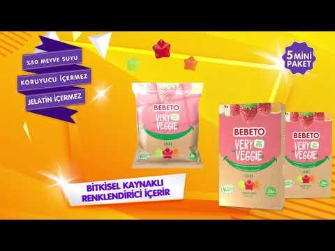 Bebeto 'Bitkisel Kaynaklı Renklendirici İçeren' yeni lezzetleri Fruit Snack ve Very Veggie