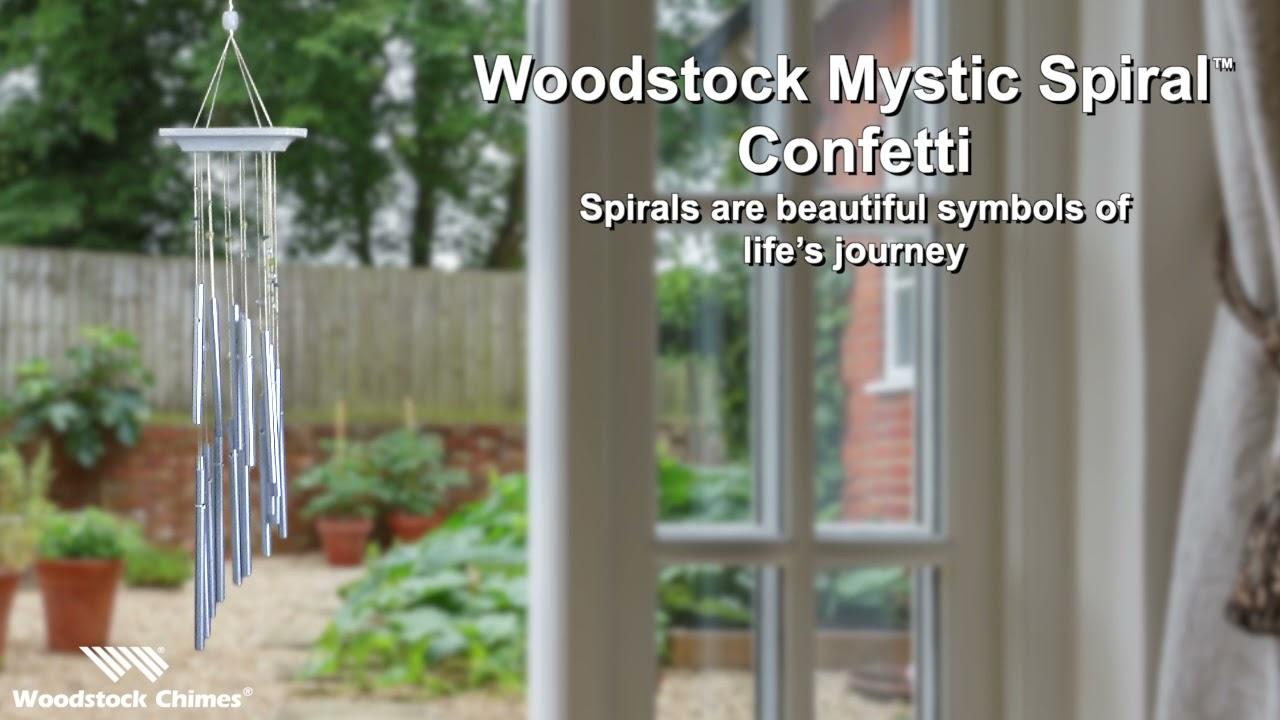 Woodstock Chimes Confetti Original Guaranteed Musically Tuned Chime Mystic Spiral