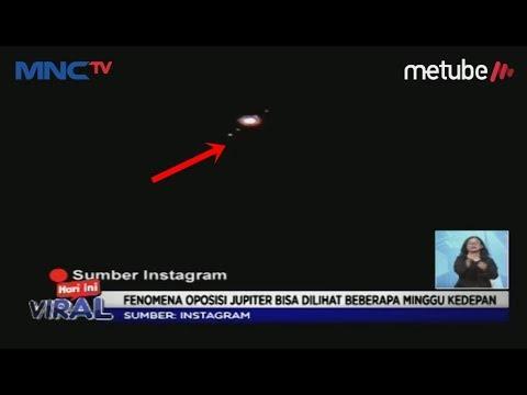 VIRAL! Penampakan Planet Jupiter Bikin Geger Warganet