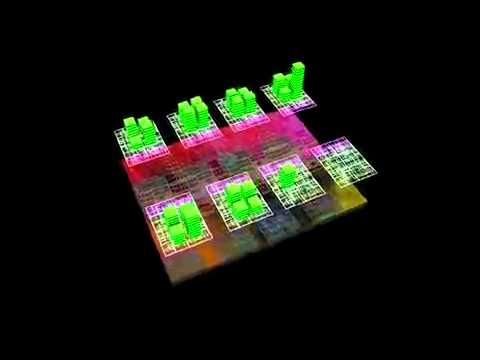 IBM POWER7 processor chip animation