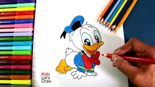 Cómo dibujar a Bebe Pato Donald (Mickey Mouse) | How to draw Baby Donald Duck