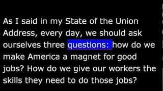 President Obama April 6th, 2013 Weekly Address - 20130406