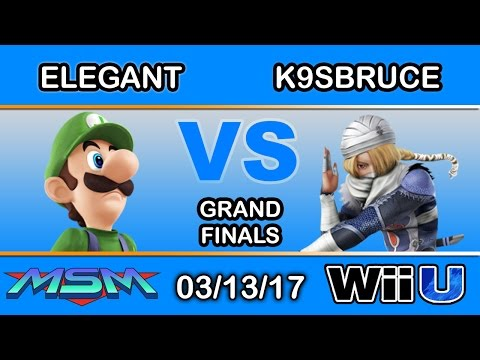 MSM 89 - Elegant (Luigi) Vs. K9sbruce (Sheik) Grand Finals - Smash Wii U