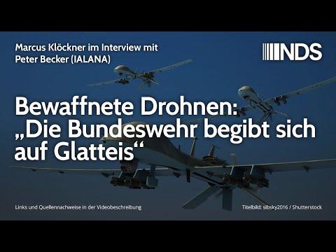 Bewaffnete Drohnen: Die Bundeswehr begibt sich auf Glatteis   M. Klöckner Interview mit Peter Becker